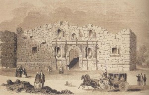 The Alamo  (as it looked at the battle)
