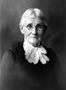"Mary Ann Bickerdyke, known as ""Mother Bickerdyke"" for her care of the wounded soldiers"
