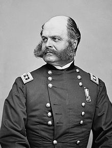 US General Ambrose E. Burnside (sideburns are named for him)