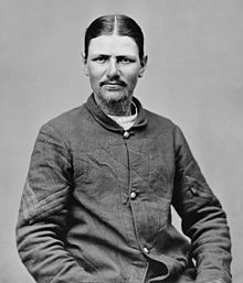 Boston Corbett, the soldier who is said to have shot John WIlkes Booth through the slats of a burning barn.
