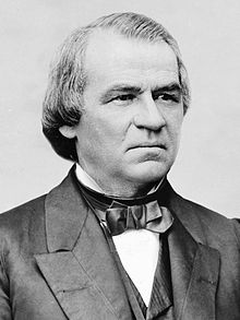Andrew Johnson, 17th President, alcoholic Reconstructionist and fanatical anti-southerner