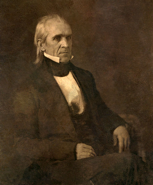 "President James K. Polk, Defender of ""Manifest Destiny"" and instigator of the Mexican-American War"