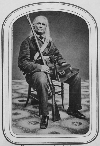 Edmund Ruffin, a firebarnd, long redited with firing the first cannon onto Ft. Sumter and starting the Civil War.