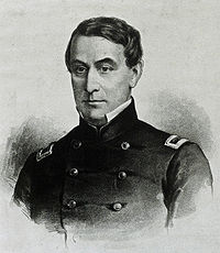 Major Robert Anderson, Commander of Ft. Sumter, he lowered the flag as he left, and raised it again when the war was over.