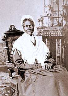 "Born a slave as Isabella (""Bell"") Baumfree, she became known as Sojourner Truth and was an Abolitionist, author, human rights activist"